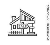 house for sale   line design...   Shutterstock .eps vector #774009832