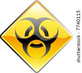 vector shiny bio hazard sign | Shutterstock .eps vector #7740115
