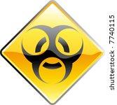 vector shiny bio hazard sign | Shutterstock .eps vector #7740115