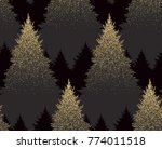 winter seamless pattern with... | Shutterstock .eps vector #774011518