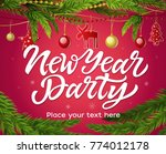 new year party   modern... | Shutterstock . vector #774012178