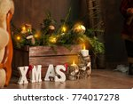 new year and christmas 2018.... | Shutterstock . vector #774017278