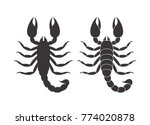abstract scorpion. isolated... | Shutterstock .eps vector #774020878