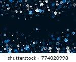 falling christmas snow on black.... | Shutterstock .eps vector #774020998