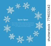 winter background with copy... | Shutterstock .eps vector #774022162