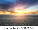 empty highway asphalt road and... | Shutterstock . vector #774022648