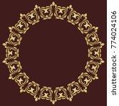 oriental vector pattern with... | Shutterstock .eps vector #774024106
