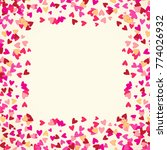 scattered little hearts border... | Shutterstock .eps vector #774026932