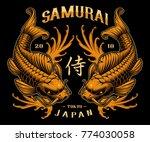 koi carp tattoo design. vector... | Shutterstock .eps vector #774030058