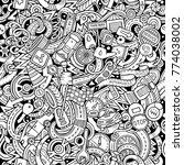 cartoon cute doodles automotive ... | Shutterstock .eps vector #774038002