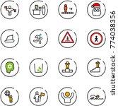 line vector icon set   traffic... | Shutterstock .eps vector #774038356
