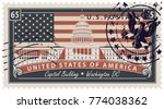 vector postage stamp with... | Shutterstock .eps vector #774038362