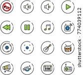line vector icon set   no horn...   Shutterstock .eps vector #774039112