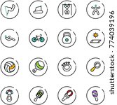 line vector icon set   power... | Shutterstock .eps vector #774039196