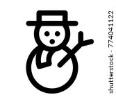 snowman with scarf   Shutterstock .eps vector #774041122