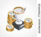 bitcoin web icon   Shutterstock .eps vector #774044416