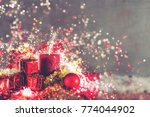 christmas decoration with... | Shutterstock . vector #774044902