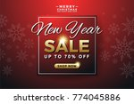 new year sale banner background ... | Shutterstock .eps vector #774045886