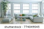 modern bright interiors 3d... | Shutterstock . vector #774049045