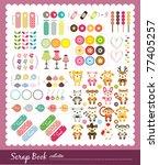 animal scrap book collection ... | Shutterstock .eps vector #77405257