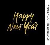 golden happy new year... | Shutterstock .eps vector #774055312