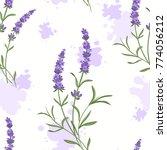 violet lavender flowers and... | Shutterstock .eps vector #774056212