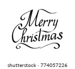 merry christmas text vector on... | Shutterstock .eps vector #774057226