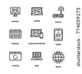 devices line icon | Shutterstock .eps vector #774059275