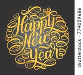 happy new year  lettering... | Shutterstock .eps vector #774059686