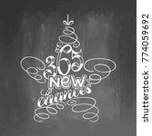 365 new chances lettering... | Shutterstock .eps vector #774059692