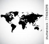 blank detailed black world map...   Shutterstock .eps vector #774065098