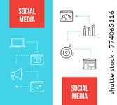social media marketing web... | Shutterstock .eps vector #774065116