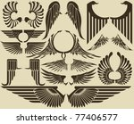 wings tribal set | Shutterstock .eps vector #77406577
