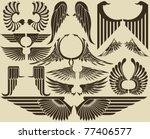 wings tribal set | Shutterstock .eps vector #77406577