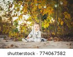 smiling baby girl sdending time ... | Shutterstock . vector #774067582