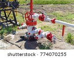 the pumping unit as the oil... | Shutterstock . vector #774070255