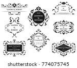 vector illustration of wedding... | Shutterstock .eps vector #774075745