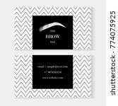 set of brow bar artist business ... | Shutterstock .eps vector #774075925