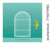 free like birds. serie of...   Shutterstock .eps vector #774075982