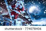 santa claus and winter time  | Shutterstock . vector #774078406