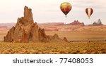 Hot Air Balloon Flying Over Ne...