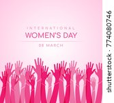 international women day with... | Shutterstock .eps vector #774080746