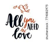 hand written love quote... | Shutterstock .eps vector #774082975