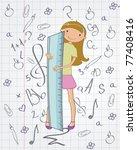 vector illustration of stylish...   Shutterstock .eps vector #77408416