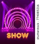 show light podium purple... | Shutterstock .eps vector #774085216