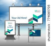 blue outdoor advertising design ...   Shutterstock .eps vector #774085705