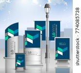 blue outdoor advertising design ... | Shutterstock .eps vector #774085738