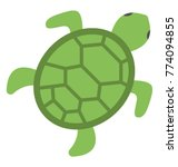 a green color sea turtle top... | Shutterstock .eps vector #774094855