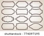 shape of vintage frame set on... | Shutterstock .eps vector #774097195