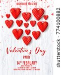 happy valentine's day party... | Shutterstock .eps vector #774100882